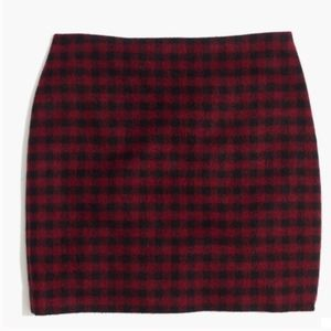 Madewell Women's Straight Mini Skirt Buffalo Check
